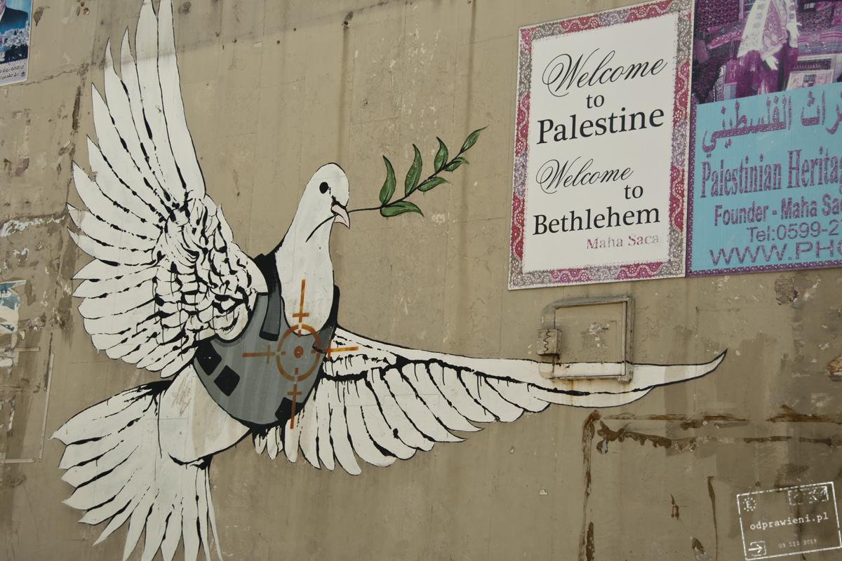 mur bezpieczeństwa banksy