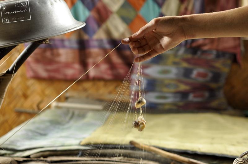 Uzbekistan silk factory